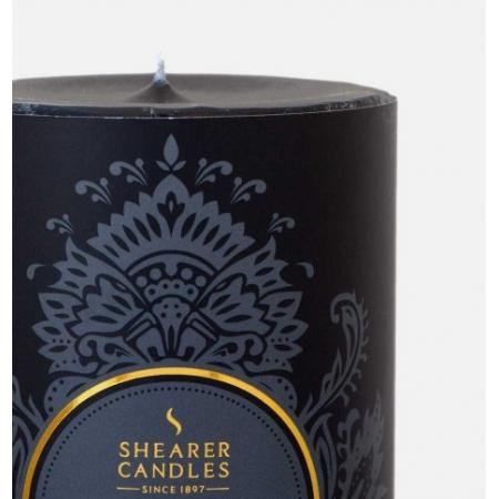 Bougie pilier parfumée Ambre noir