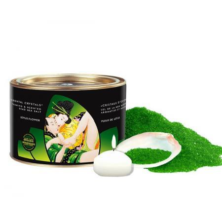 Sels de bain Bio + Bougie Fleur de Lotus