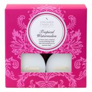 Bougie chauffe-plat parfum Fruits Tropicaux x 8