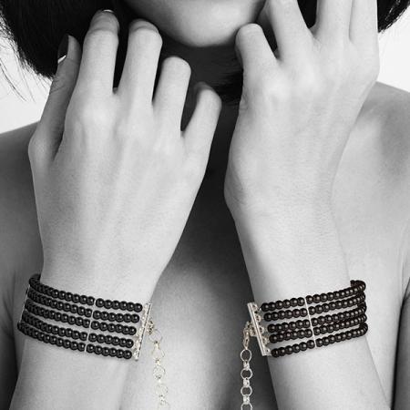 Menottes Bracelets Plaisir Nacré Noir
