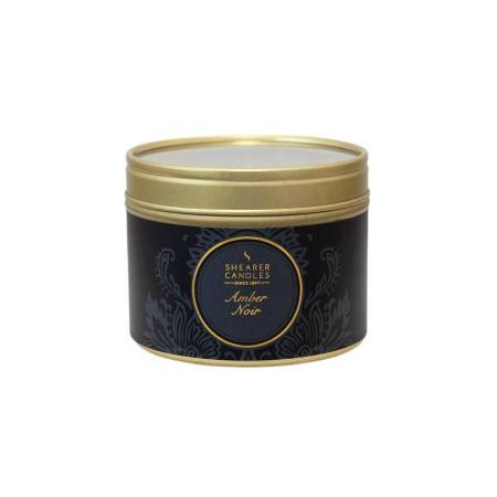 Bougie parfumée noire Ambre