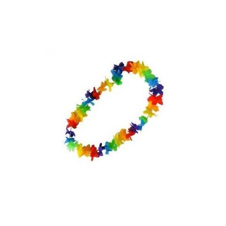 Collier de fleurs multicolore