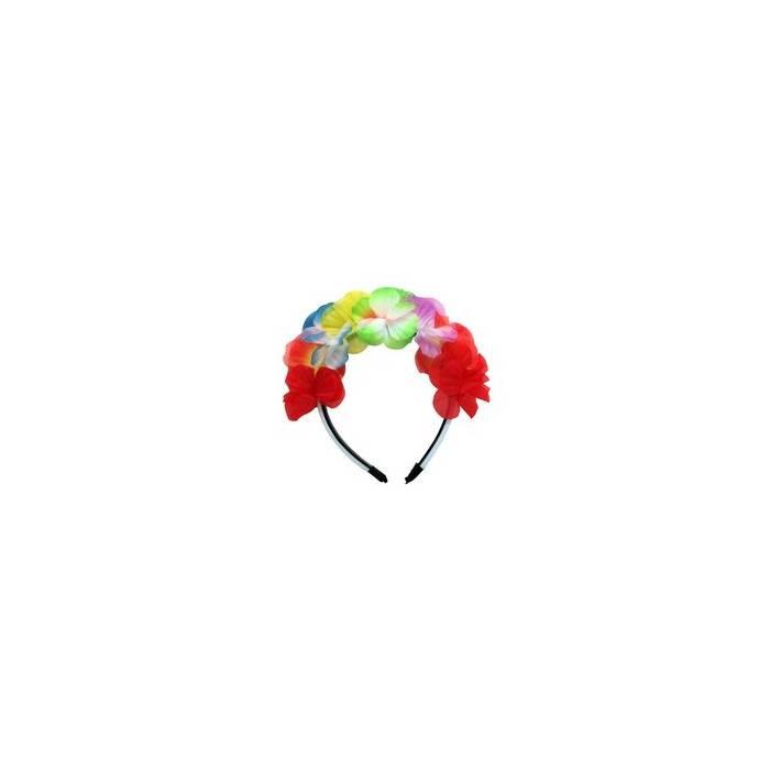 Couronne de fleurs multicolore pour EVJF