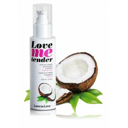 Huile de massage comestible chauffante Noix de Coco
