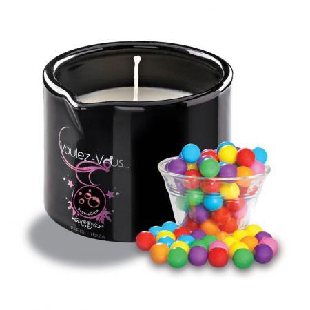 Bougie massage gourmande Bubble Gum