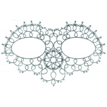 Bijoux de peau Masque Yeux Argent